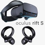 Oculus Rift Sとコントローラー 3d model