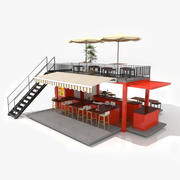 Container Fast Food Restaurant 3d model