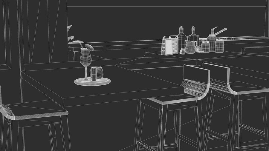Container Fast Food Restaurant royalty-free 3d model - Preview no. 16