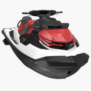 Embarcation de jet ski nautique 3d model
