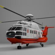 欧洲直升机公司AS332_香港政府L074 3d model