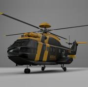Eurocopter AS332 UK EMERGENCY AVIATION L078 3d model
