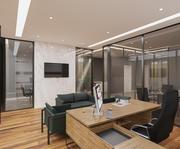 Gerçekçi ofis iç sahne 01 3d model