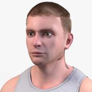 Realistic Man (Tattoo) 3d model