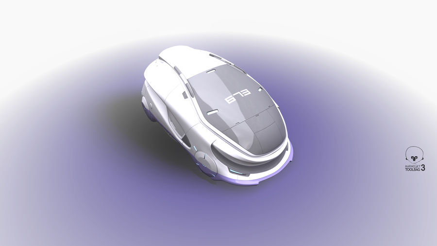 Concept cars sci-fi royalty-free 3d model - Preview no. 10