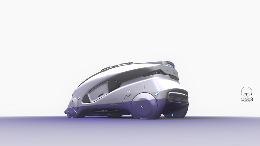 Concept cars sci-fi royalty-free 3d model - Preview no. 8