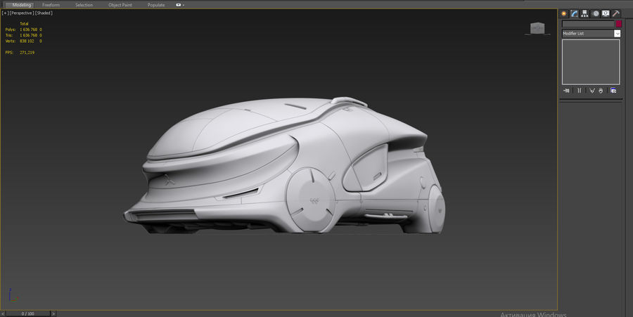 Concept cars sci-fi royalty-free 3d model - Preview no. 13