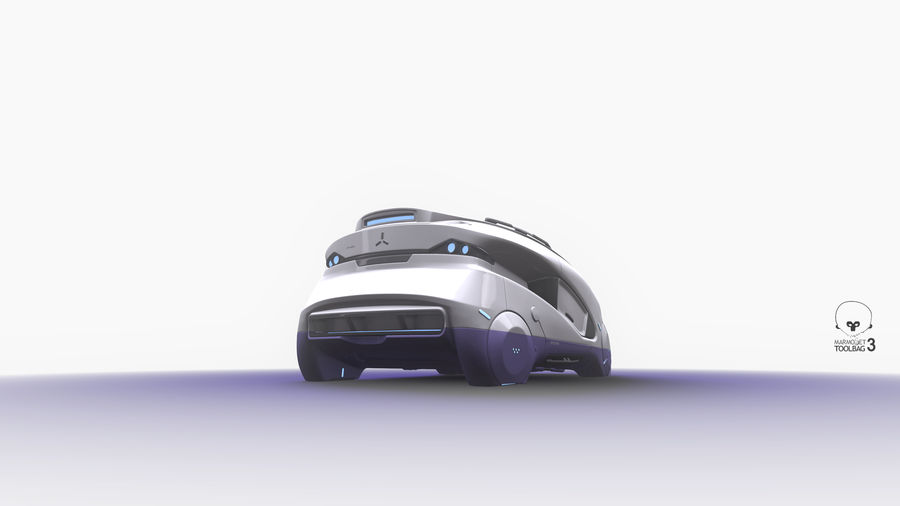 Concept cars sci-fi royalty-free 3d model - Preview no. 6