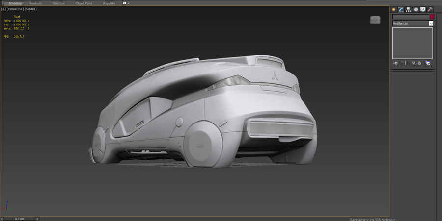 Concept cars sci-fi royalty-free 3d model - Preview no. 12