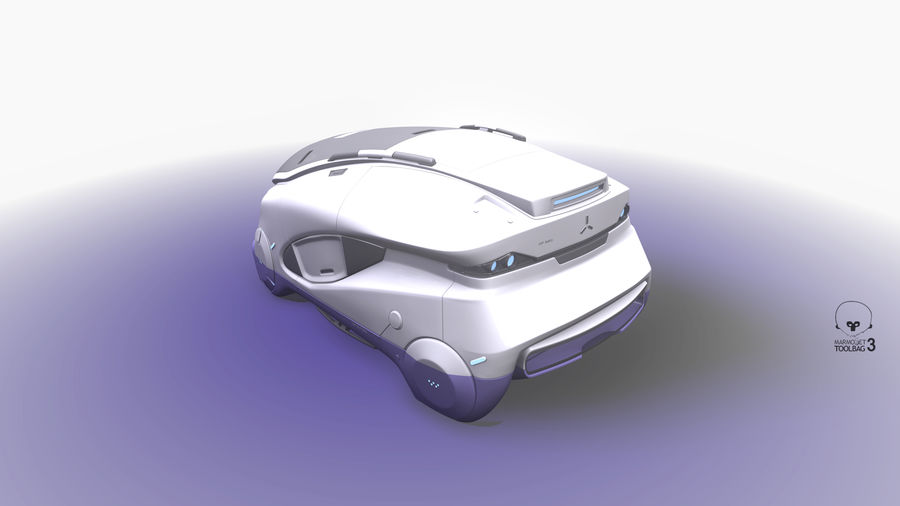 Concept cars sci-fi royalty-free 3d model - Preview no. 11