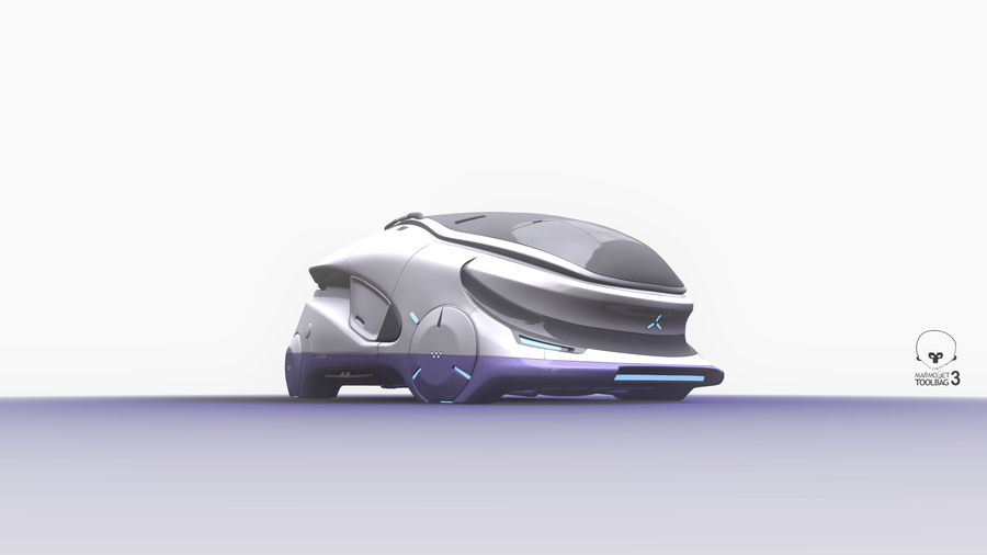 Concept cars sci-fi royalty-free 3d model - Preview no. 5