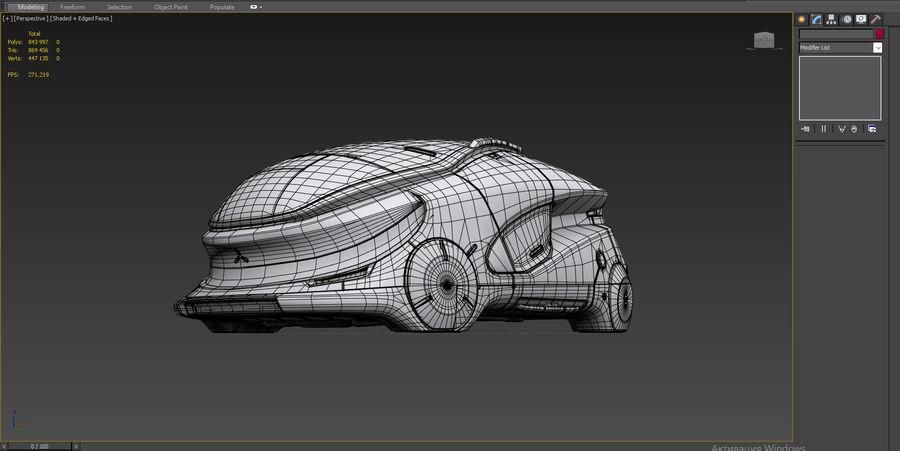 Concept cars sci-fi royalty-free 3d model - Preview no. 14