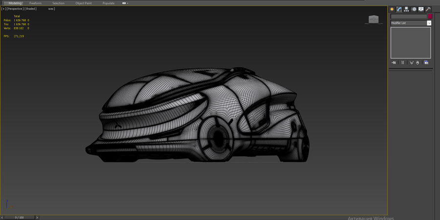 Concept cars sci-fi royalty-free 3d model - Preview no. 15