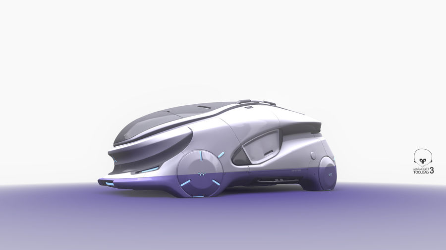 Concept cars sci-fi royalty-free 3d model - Preview no. 9