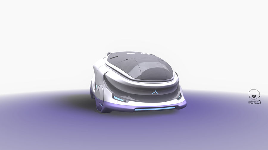 Concept cars sci-fi royalty-free 3d model - Preview no. 3