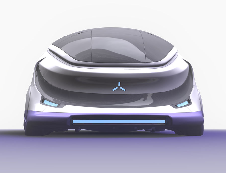 Concept cars sci-fi royalty-free 3d model - Preview no. 1