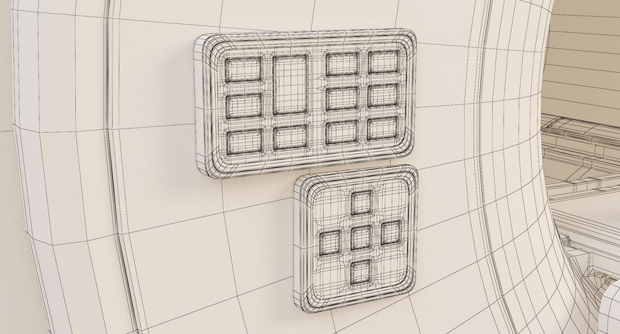 MRI-scanner royalty-free 3d model - Preview no. 19