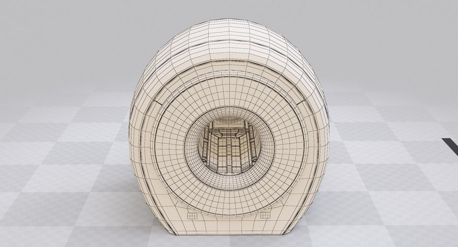 MRI-scanner royalty-free 3d model - Preview no. 15