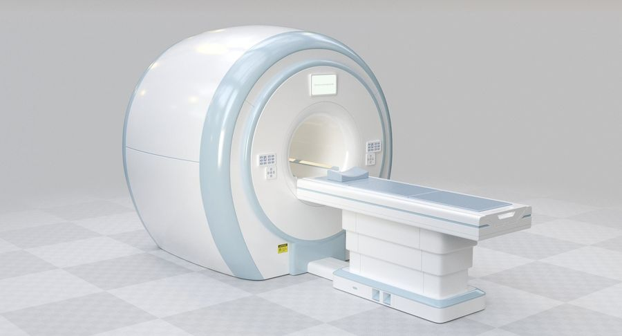 MRI-scanner royalty-free 3d model - Preview no. 2