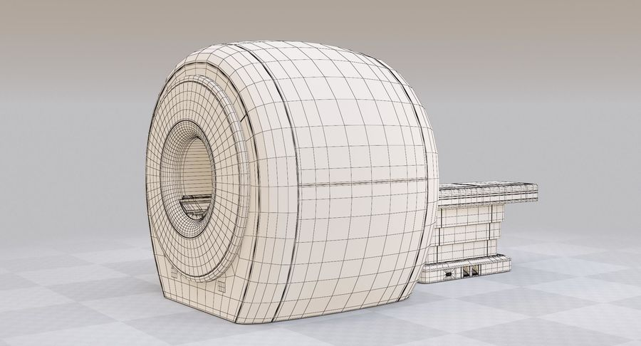 MRI-scanner royalty-free 3d model - Preview no. 14