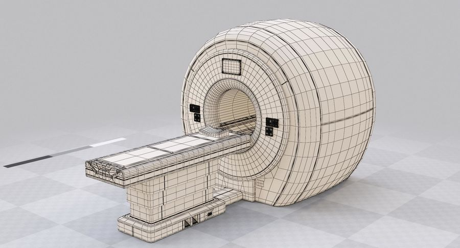 MRI-scanner royalty-free 3d model - Preview no. 13