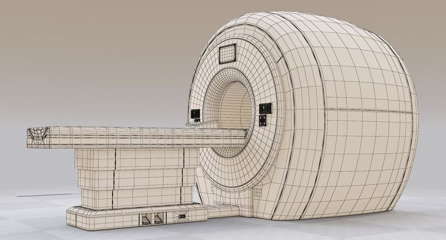MRI-scanner royalty-free 3d model - Preview no. 16