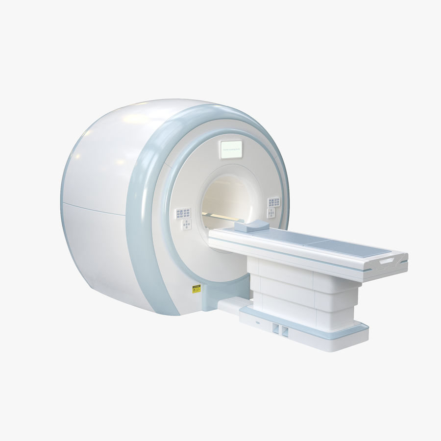 MRI-scanner royalty-free 3d model - Preview no. 1
