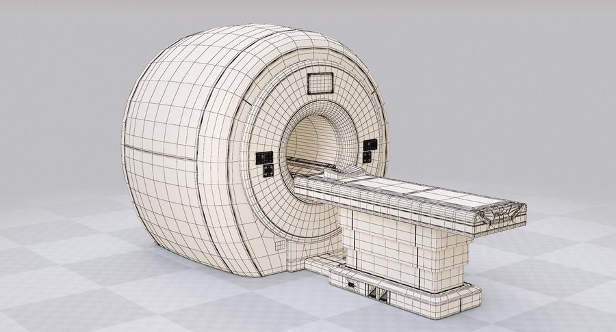 MRI-scanner royalty-free 3d model - Preview no. 12