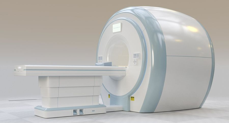 MRI-scanner royalty-free 3d model - Preview no. 6