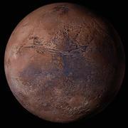 Marte imprimível em 3D (com geometria do terreno) 3d model
