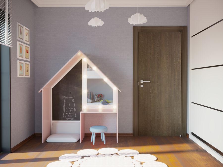 어린이 침실 02 royalty-free 3d model - Preview no. 3
