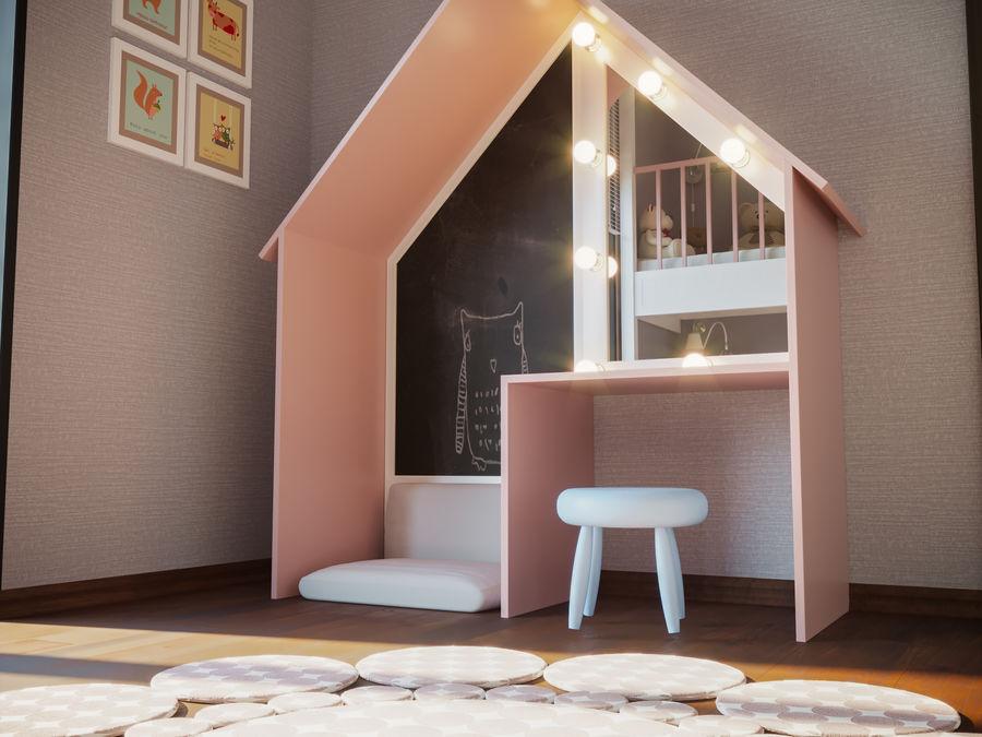 어린이 침실 02 royalty-free 3d model - Preview no. 4