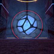 サイエンスフィクションの概念寺院環境 3d model