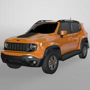 Jeep Renegade Orange Trailhawk 2019 L087 3d model