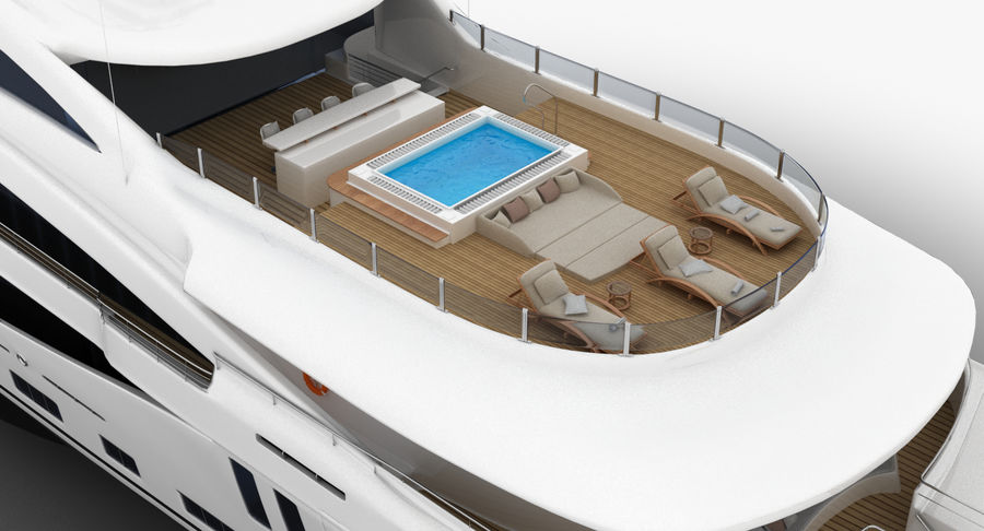 Amels 200 Yacht royalty-free 3d model - Preview no. 12