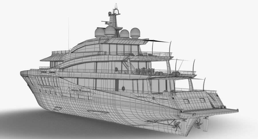 Amels 200 Yacht royalty-free 3d model - Preview no. 23
