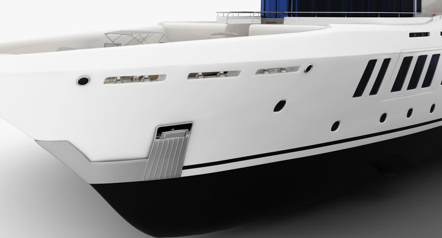 Amels 200 Yacht royalty-free 3d model - Preview no. 17