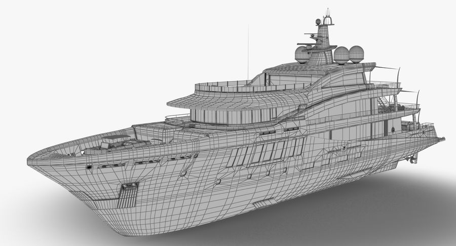 Amels 200 Yacht royalty-free 3d model - Preview no. 21