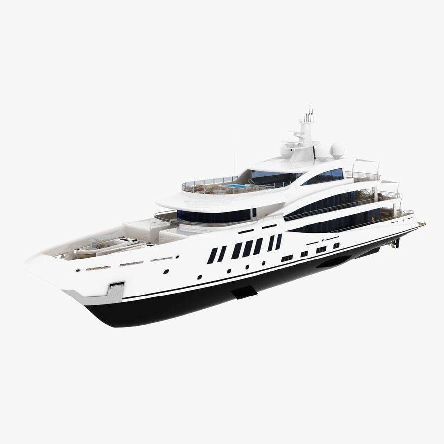 Amels 200 Yacht royalty-free 3d model - Preview no. 1