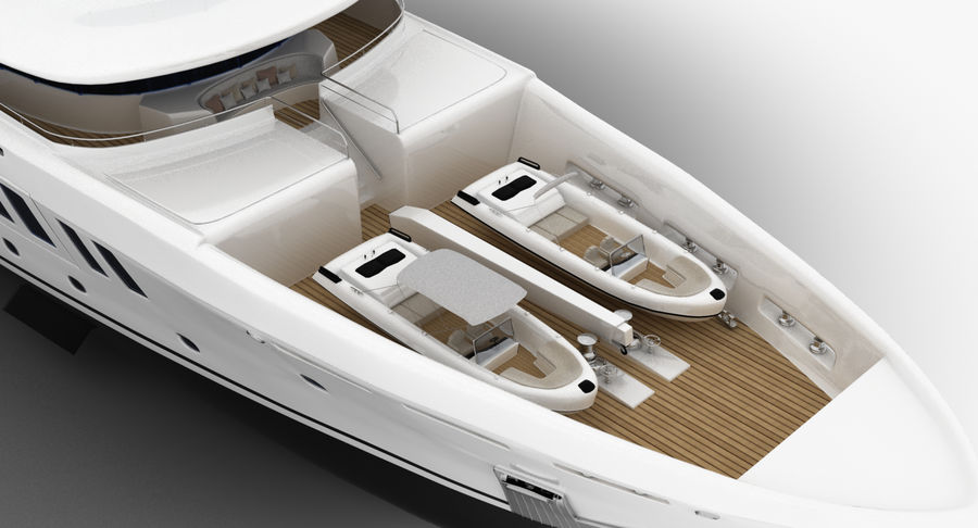 Amels 200 Yacht royalty-free 3d model - Preview no. 11