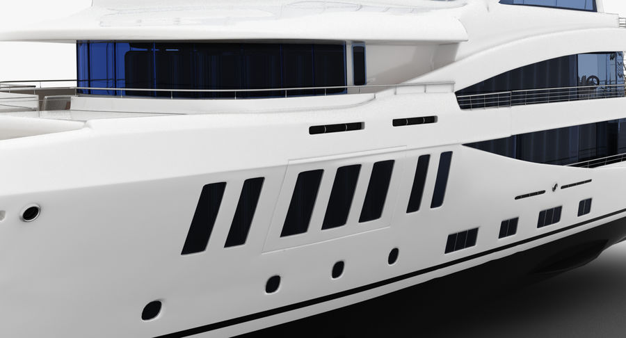 Amels 200 Yacht royalty-free 3d model - Preview no. 18