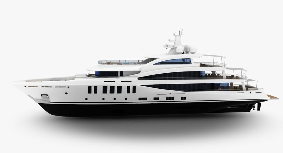 Amels 200 Yacht royalty-free 3d model - Preview no. 4