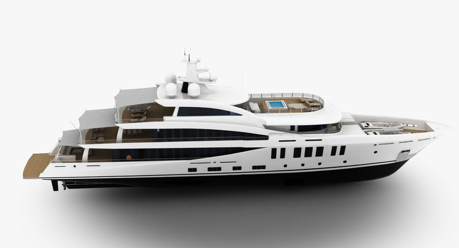 Amels 200 Yacht royalty-free 3d model - Preview no. 9