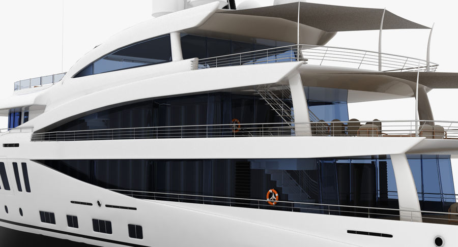 Amels 200 Yacht royalty-free 3d model - Preview no. 19