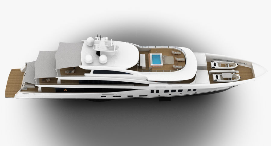 Amels 200 Yacht royalty-free 3d model - Preview no. 10