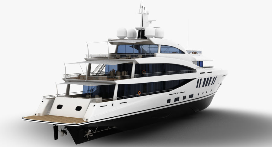 Amels 200 Yacht royalty-free 3d model - Preview no. 7