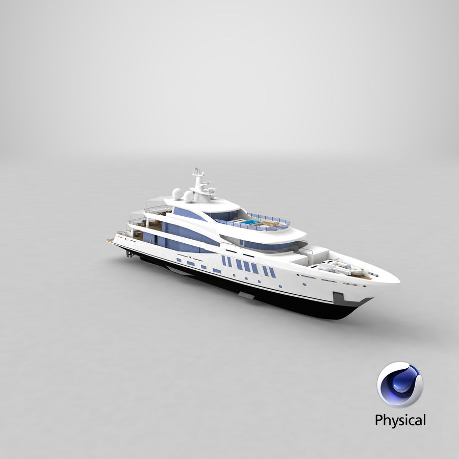 Amels 200 Yacht royalty-free 3d model - Preview no. 40