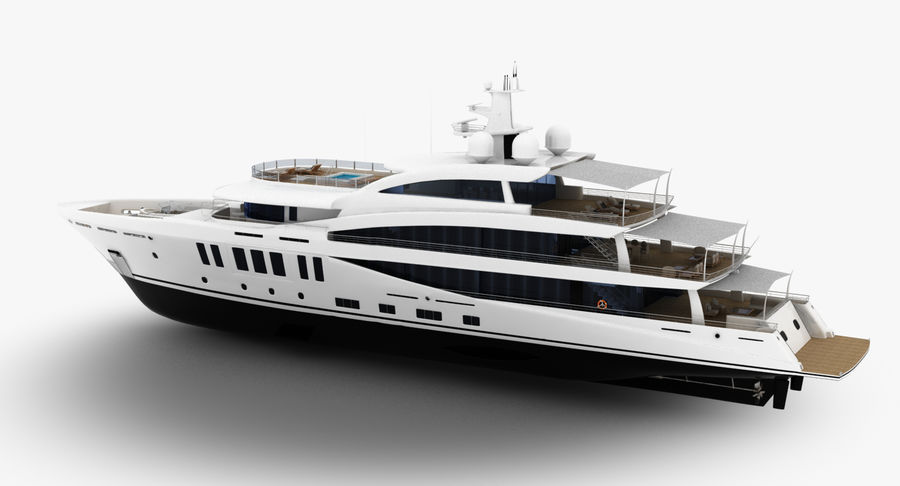 Amels 200 Yacht royalty-free 3d model - Preview no. 5
