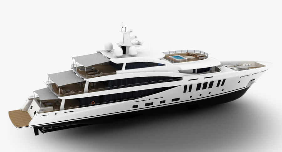 Amels 200 Yacht royalty-free 3d model - Preview no. 8