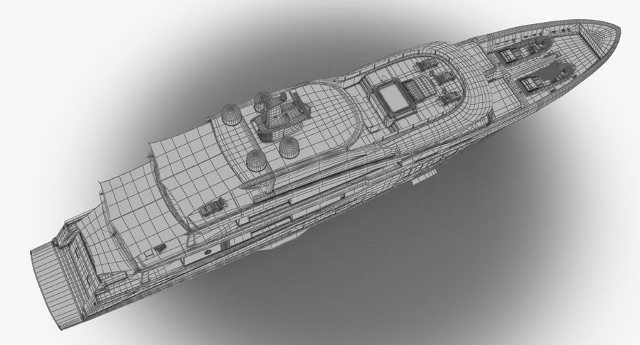 Amels 200 Yacht royalty-free 3d model - Preview no. 25